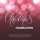 Christmas 2019 Celebrations Glowing background royalty free illustration
