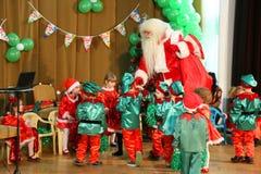 Christmas celebrations at kindergarten Royalty Free Stock Images