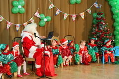 Christmas celebrations at kindergarten Royalty Free Stock Images