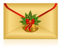 Christmas celebratory envelope Stock Image