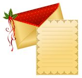 Christmas celebratory envelope Stock Photo