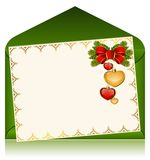 Christmas celebratory envelope Royalty Free Stock Photo