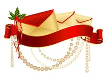Christmas celebratory envelope Royalty Free Stock Images