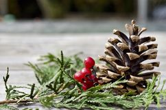 Christmas centerpiece Royalty Free Stock Photo