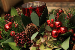 Christmas centerpiece Stock Photography