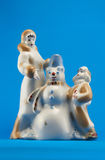 Christmas ceramics figurines Stock Photo