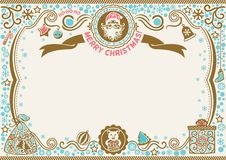 Christmas certificate with Santa and Pig. Symbol of 2019. H-ho-ho Merry Christmas royalty free stock image