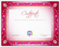 Christmas Certificate template with border xmas happy new year Stock Photos