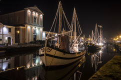 Christmas in Cesenatico Royalty Free Stock Images