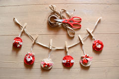 Christmas chabby chic decorations Stock Images