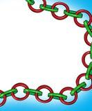 Christmas Chain. Large digital made christmas chain image Stock Illustration