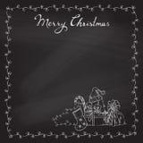 Christmas chalk background. Royalty Free Stock Image