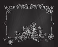 Christmas chalkboard background. Royalty Free Stock Photo