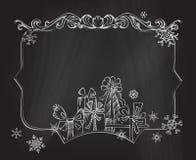 Christmas chalkboard background. Royalty Free Stock Photo