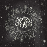 Christmas chalkboard background. Stock Images