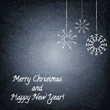 Christmas chalkboard background with snowflakes Royalty Free Stock Image