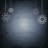 Christmas chalkboard background with snowflakes Royalty Free Stock Images