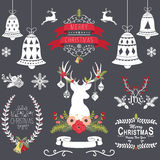 Christmas Chalkboard Collection Royalty Free Stock Images