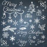 Christmas chalkboard elements Stock Photography