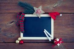 Christmas chalkboard Stock Photography