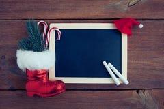 Christmas chalkboard Stock Photos
