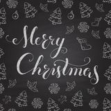 Christmas Chalkboard with lettering. Royalty Free Stock Photo