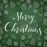 Christmas Chalkboard with lettering. Stock Image