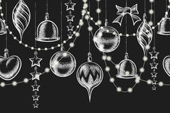 Christmas Chalkboard Ornament Royalty Free Stock Photography