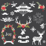Christmas Chalkboard. A Vector Illustration of Christmas Chalkboard Royalty Free Stock Photography