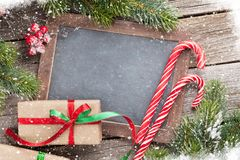 Christmas chalkboard for your greetings Stock Photo