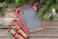 Christmas chalkboard for your greetings Stock Photography