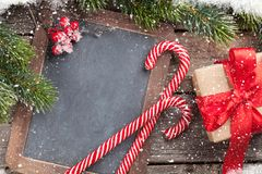 Christmas chalkboard for your greetings Royalty Free Stock Photography