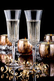 Christmas Champagne royalty free stock photo