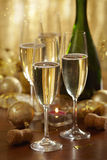 Christmas champagne Royalty Free Stock Photos