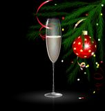 Christmas champagne Stock Photography