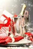 Christmas champagne Stock Photos