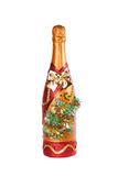 Christmas champagne Stock Images