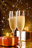 Christmas Champagne Royalty Free Stock Images