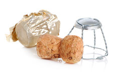 Christmas champagne cork Royalty Free Stock Photo