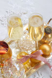 Christmas champagne glasses Stock Images