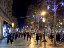Christmas Champs Elysee Paris Stock Photo
