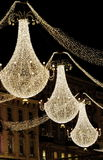 Christmas chandeliers stock images