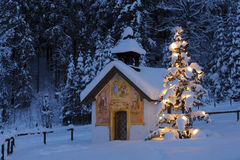 Christmas chapel royalty free stock photography