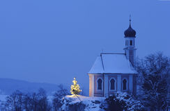 Christmas chapel Royalty Free Stock Photos