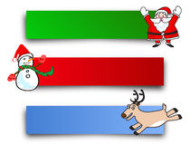 Christmas character banner Stock Photo