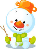 Christmas character - cute vector snowman Royalty Free Stock Images