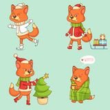 Christmas Character - Fox Royalty Free Stock Photos