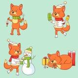 Christmas Character - Fox Stock Photo