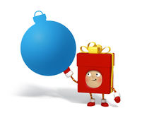 Christmas character with message board Royalty Free Stock Images