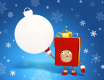 Christmas character with message board Stock Photography